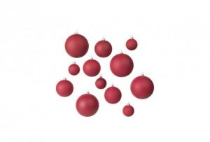 Eglīšu rotājumi - sarkanas bumbas